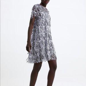 Zara sequin dress NWT